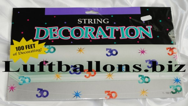 Geburtstag Dekoration String Decoration 30 Geburtstag