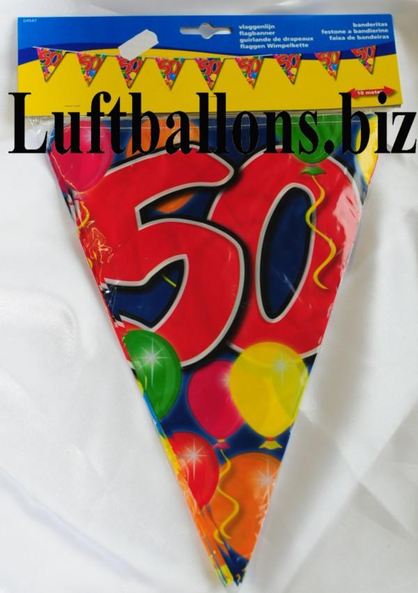 Geburtstag dekoration wimpelkette 50 geburtstag lu for Dekoration 50 geburtstag