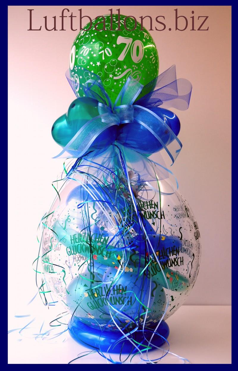 geschenkballon luftballon zum verpacken von geschenken zum 70 geburtstag lu geschenkverpackung. Black Bedroom Furniture Sets. Home Design Ideas