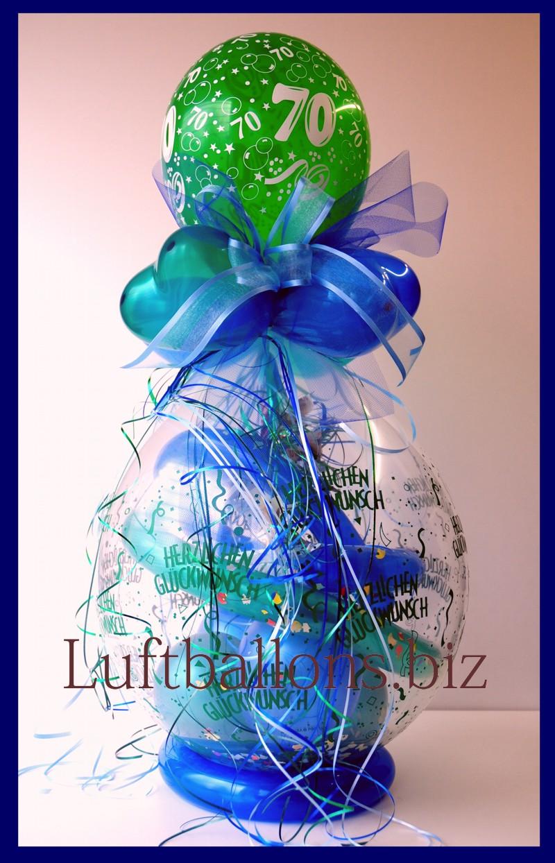 Geschenkballon Luftballon Zum Verpacken Von Geschenken Zum 70
