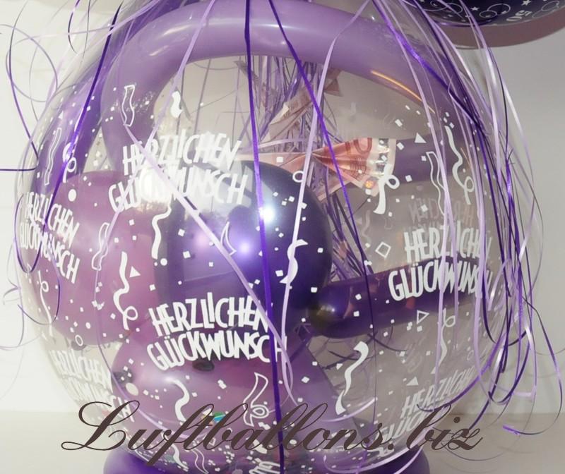 verpackungsballon ballon zum verpacken von geschenken zum 50 geburtstag lu verpackungs. Black Bedroom Furniture Sets. Home Design Ideas