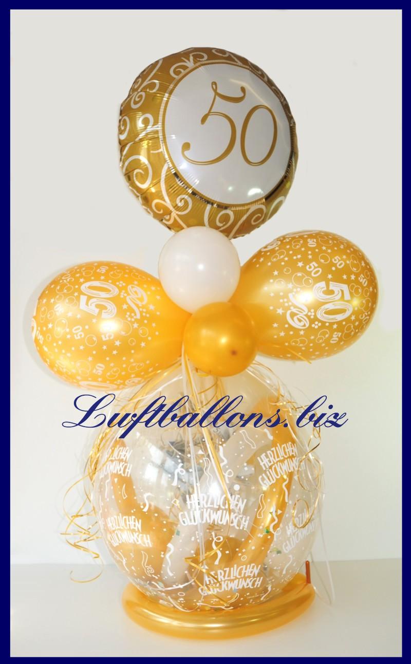 geschenkballon ballon zum verpacken von geschenken zum 50. Black Bedroom Furniture Sets. Home Design Ideas