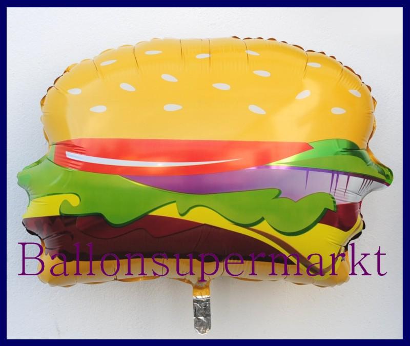 hamburger deko luftballon aus folie mit helium lu luftballons deko folie hamburger mit helium 15462. Black Bedroom Furniture Sets. Home Design Ideas