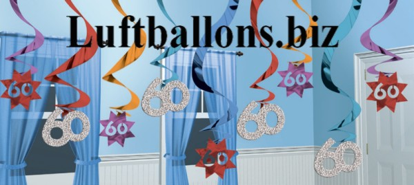 geburtstag dekoration wirbler dekoration 60 geburtstag. Black Bedroom Furniture Sets. Home Design Ideas