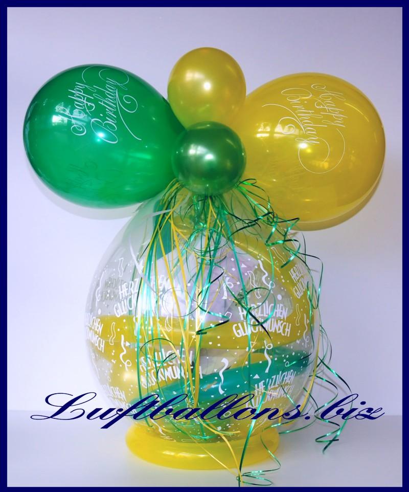 geschenkballon luftballon zum verpacken von geschenken happy birthday lu happy birthday. Black Bedroom Furniture Sets. Home Design Ideas
