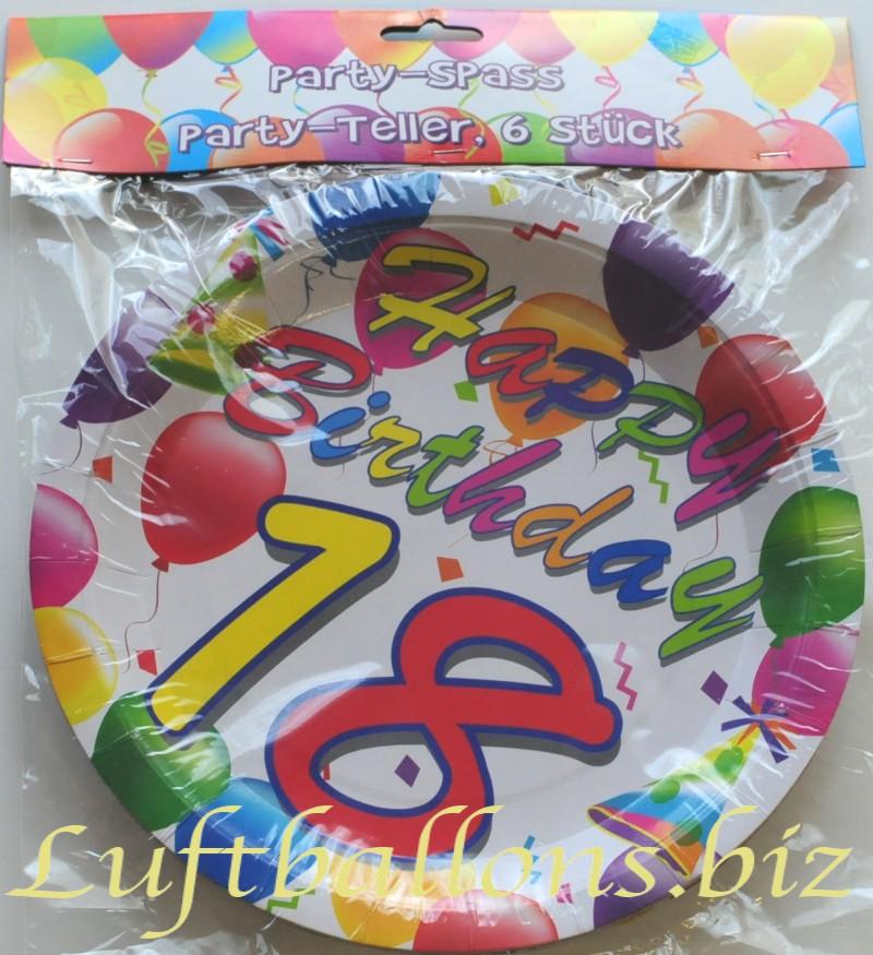 Geburtstag Tischdekoration Party Teller Zum 18 Geburtstag 6