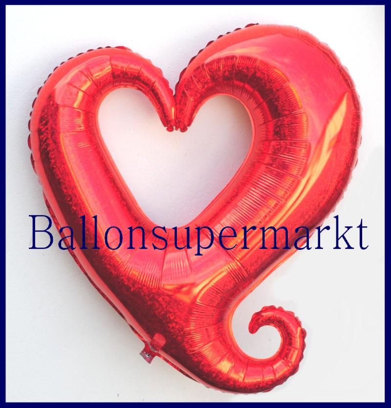 Herz deko luftballon aus folie lu luftballons deko folie holografisches herz 85125 - Luftballon deko ...