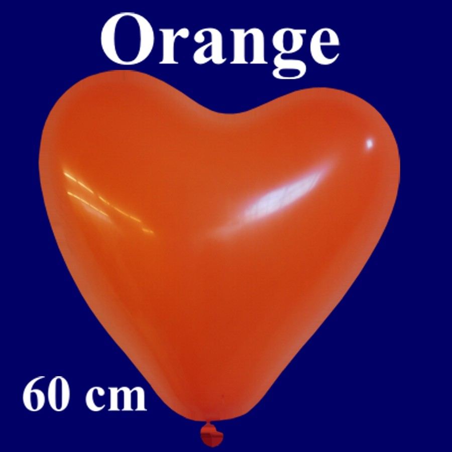 herzluftballon luftballon in herzform 1 st ck orange 60 cm lu hs herzluftballon 60 cm orange. Black Bedroom Furniture Sets. Home Design Ideas