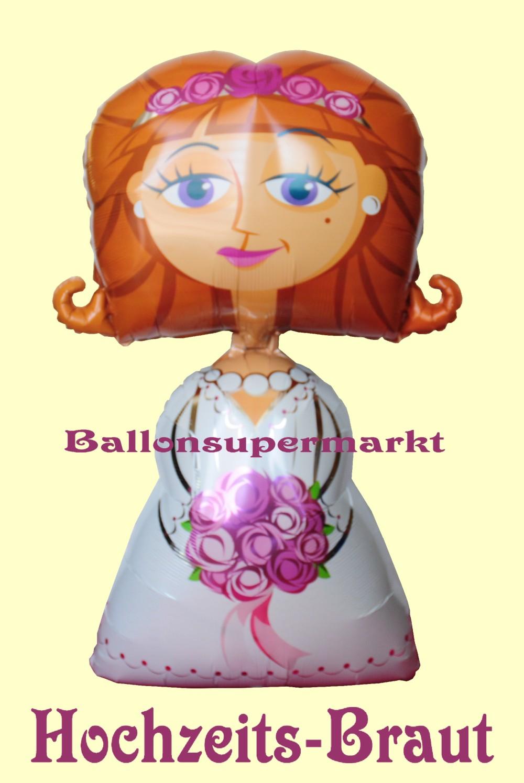 Hochzeitspaar Airwalker Luftballons mit Helium, Hochzeitsdekoration ...
