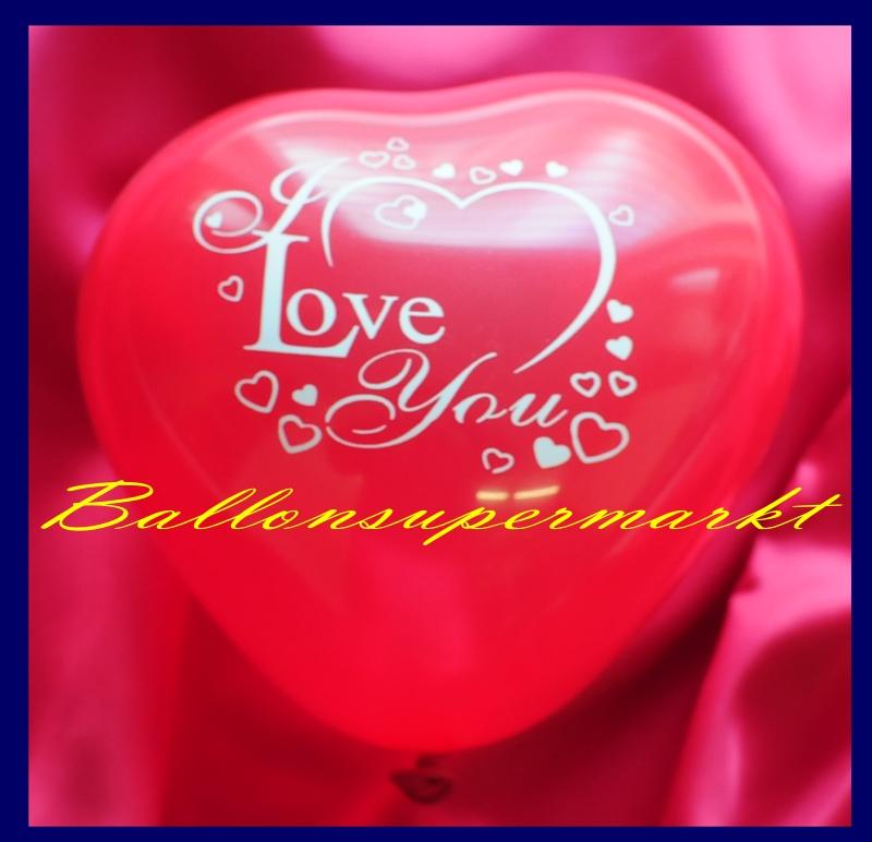 mini herzluftballons 8 12 cm rot bedruckt i love you 50 st ck lu mini herzluftballons 8 12. Black Bedroom Furniture Sets. Home Design Ideas