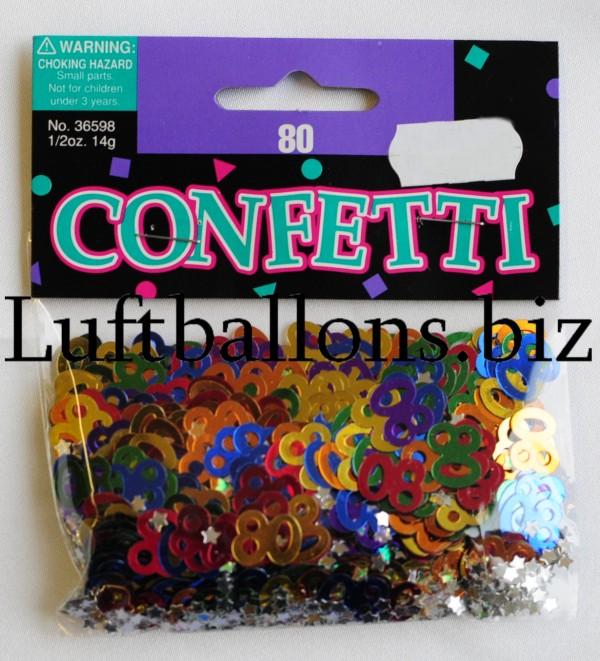 tischdekoration geburtstag konfetti zahl 80 bunt lu geburtstag tischdekoration konfetti zahl. Black Bedroom Furniture Sets. Home Design Ideas