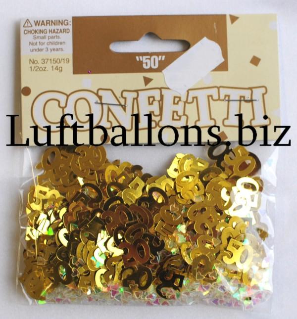 tischdekoration geburtstag konfetti zahl 50 gold lu. Black Bedroom Furniture Sets. Home Design Ideas