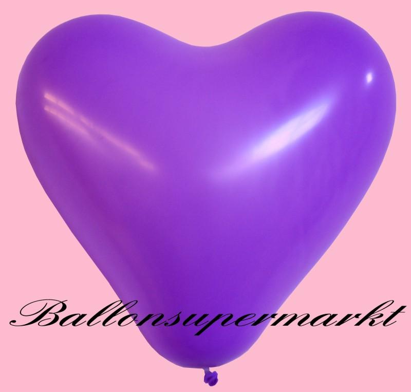luftballons helium einweg set herzluftballons lila 50. Black Bedroom Furniture Sets. Home Design Ideas