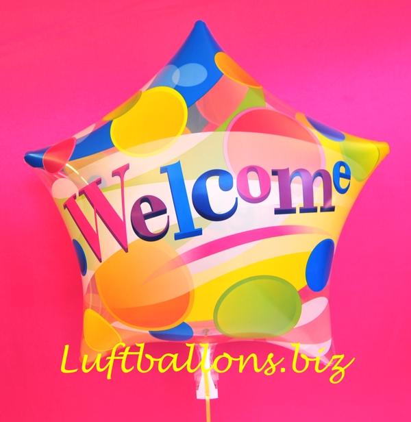 bubble luftballon welcome willkommen lu bubble luftballon motiv welcome willkommen oh 91388. Black Bedroom Furniture Sets. Home Design Ideas