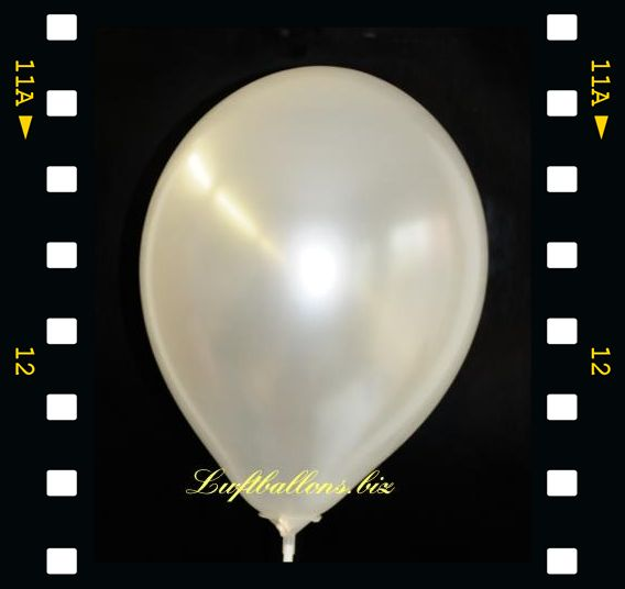 Deko-Luftballons Perlmuttfarben Weiu00df 90/100 Cm 100 Stu00fcck Serie 2-LU Deko-luftballons-S-2 ...