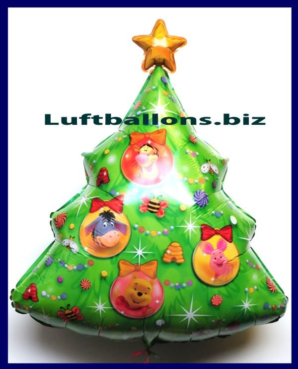 luftballon weihnachten weihnachtsbaum winnie the pooh lu. Black Bedroom Furniture Sets. Home Design Ideas