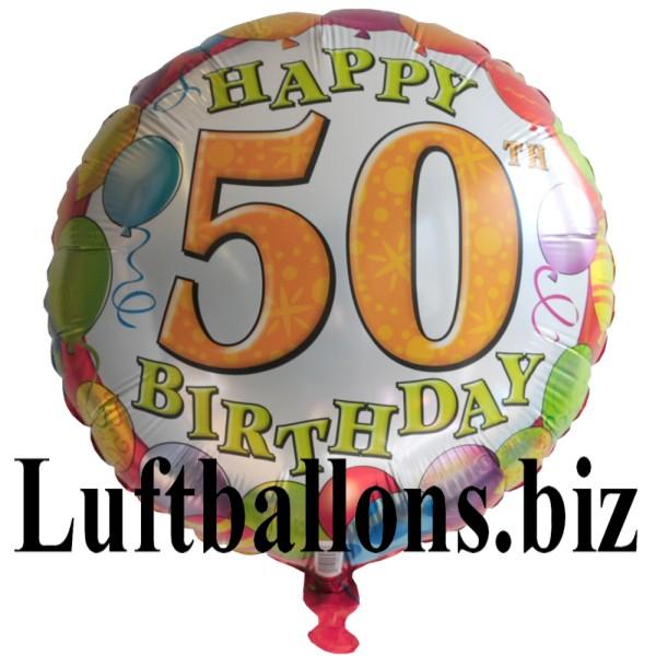 geburtstagsgeschenk luftballon mit helium im karton balloons birthday 50 geburtstag lu. Black Bedroom Furniture Sets. Home Design Ideas