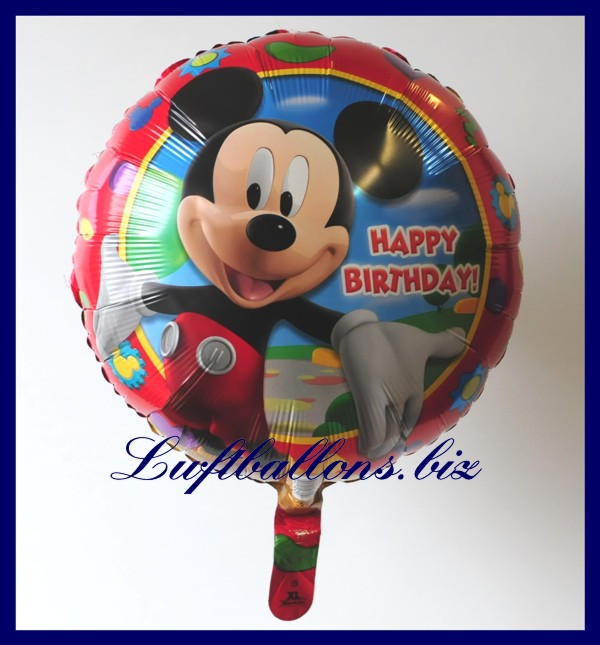 happy birthday micky maus folien luftballon zum geburtstag lu folien luftballon geburtstag. Black Bedroom Furniture Sets. Home Design Ideas