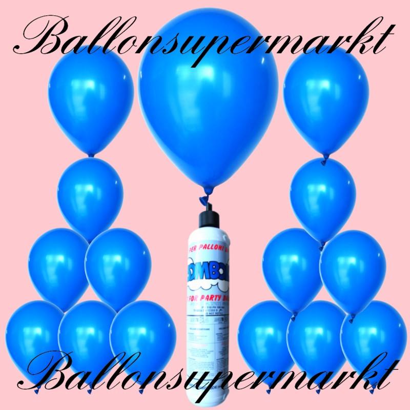 helium balloons set mini bottle latex balloons in blue lu luftballons helium mini set latex. Black Bedroom Furniture Sets. Home Design Ideas