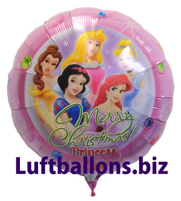 weihnachts luftballon princess mit helium geschenk zu. Black Bedroom Furniture Sets. Home Design Ideas