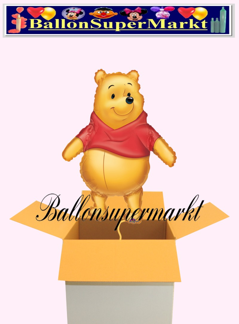 luftballon winnie the pooh pu b r big as life shape kindergeburtstag u geschenk lu. Black Bedroom Furniture Sets. Home Design Ideas