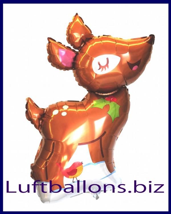 weihnachts luftballon rentier mit helium geschenk zu. Black Bedroom Furniture Sets. Home Design Ideas