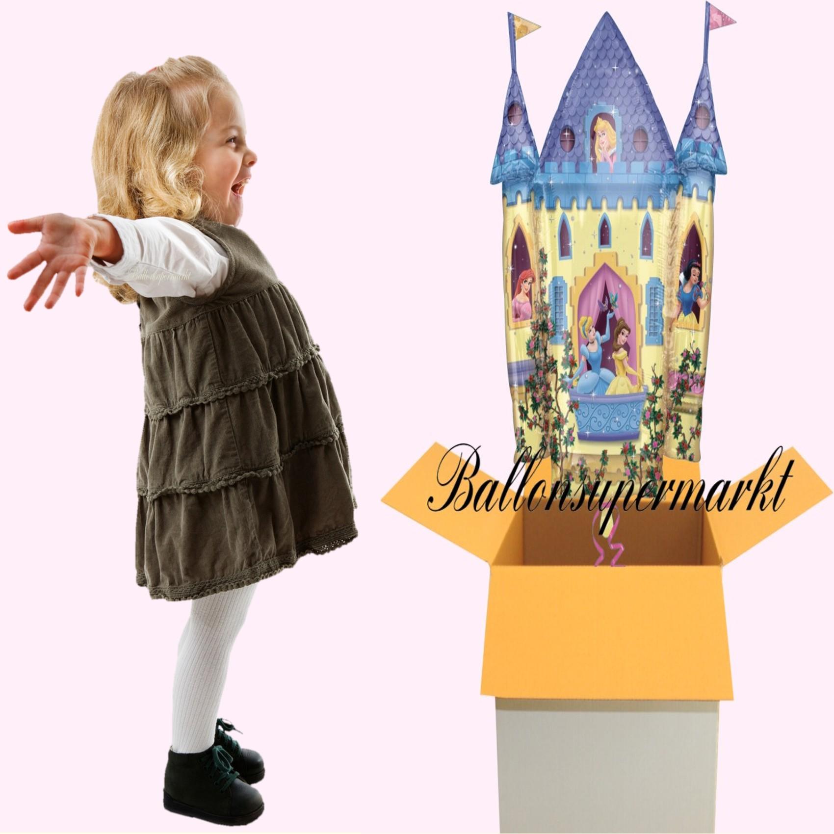 luftballon disney princess castle prinzessinnen schloss shape kindergeburtstag u geschenk lu. Black Bedroom Furniture Sets. Home Design Ideas