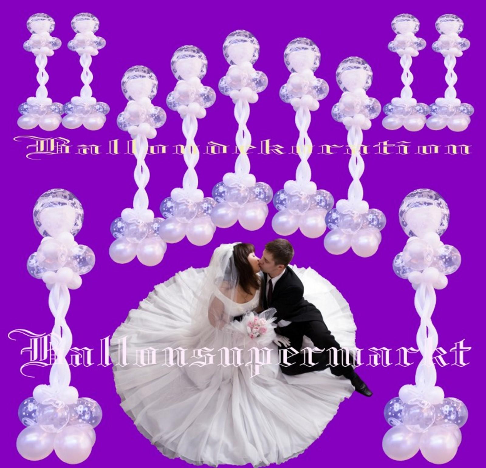 Traumhafte ballondekoration hochzeit mit joined hearts for Dekoration mit luftballons