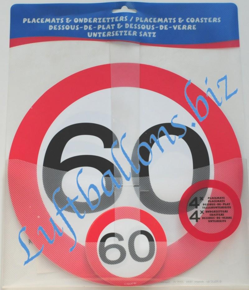Geburtstag Tischdekoration Untersetzer Set Zum 60