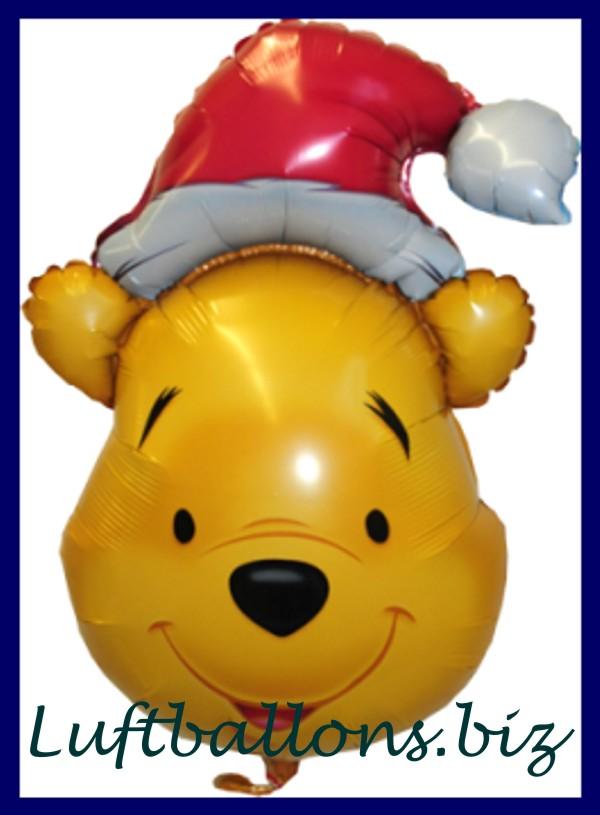 weihnachts luftballon puuh der b r mit weihnachtsm tze lu. Black Bedroom Furniture Sets. Home Design Ideas