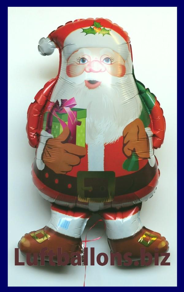 luftballon zu weihnachten weihnachtsmann mit geschenk. Black Bedroom Furniture Sets. Home Design Ideas
