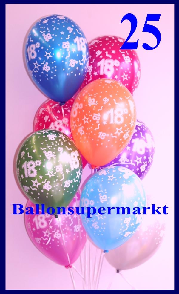 zahlen luftballons zahl 18 25 st ck lu luftballons zahl 18 lftbz 25. Black Bedroom Furniture Sets. Home Design Ideas