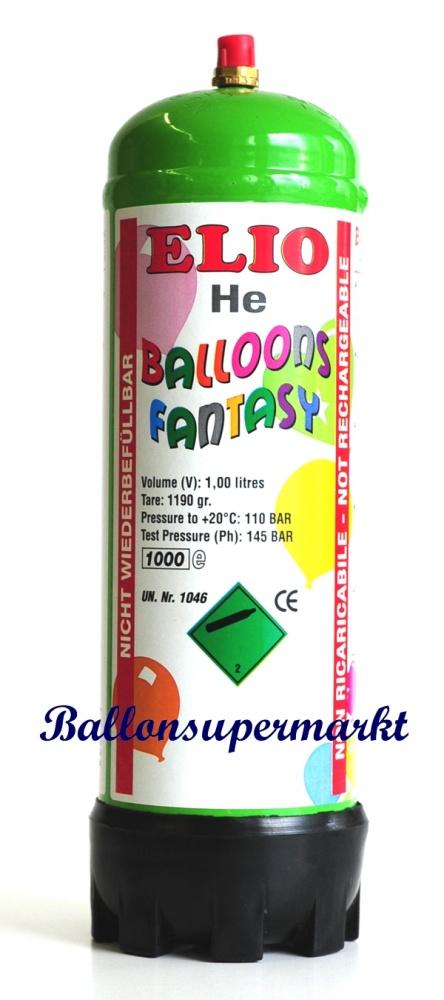 1 Liter Ballongas-Helium Einwegflasche