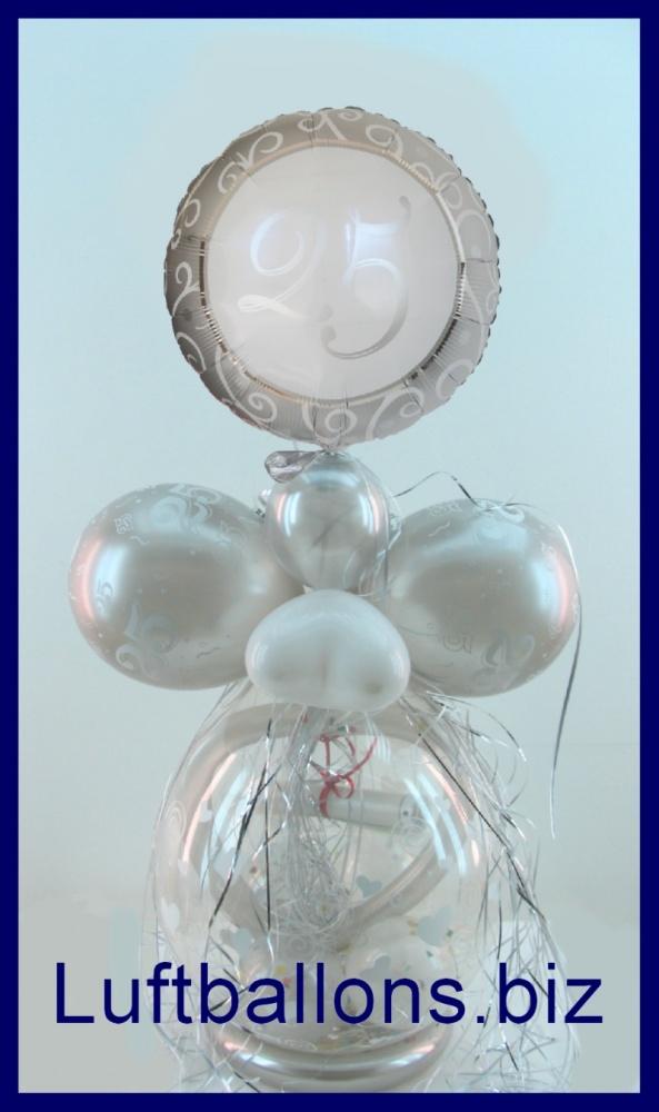 25 jahre silberne hochzeit geschenkballon geschenkverpackung lu 25 jahre silberne hochzeit. Black Bedroom Furniture Sets. Home Design Ideas