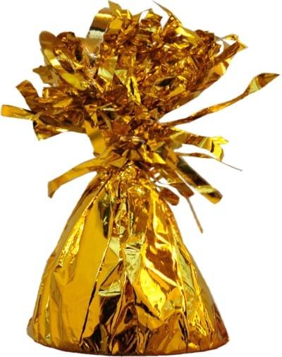 Gewicht für Luftballons mit Helium, Folie, Gold