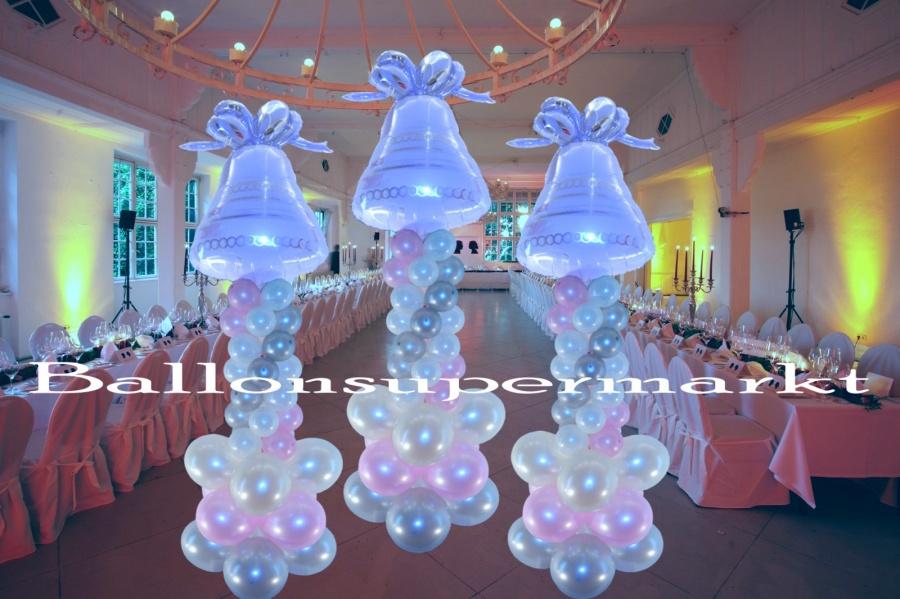 Ballondekoration hochzeit hochzeitsglocke lu hs ballondekoration hochzeit hochzeitsglocke auf - Luftballon deko ...