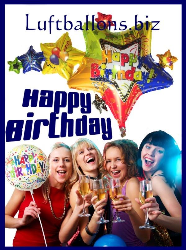 Happy Birthday zum Geburtstag mit Luftballons