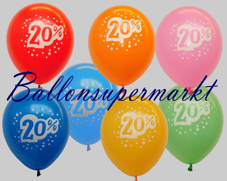 Luftballons zur Rabattaktion, 20% Kundenrabatt