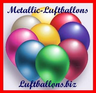 Deko Luftballons von Luftballons.biz, Metallicfarben, 90/100 cm, Serie 2