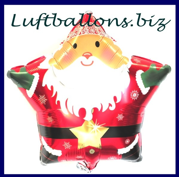 nikolaus luftballon sternballon weihnachtsmann lu. Black Bedroom Furniture Sets. Home Design Ideas