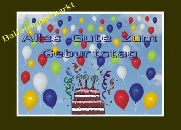 Ballonflugkarten Geburtstag