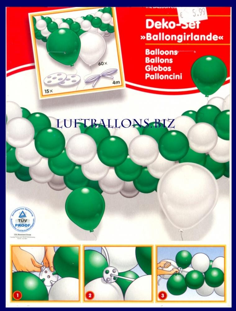 latexgirlanden girlanden aus latexballons. Black Bedroom Furniture Sets. Home Design Ideas