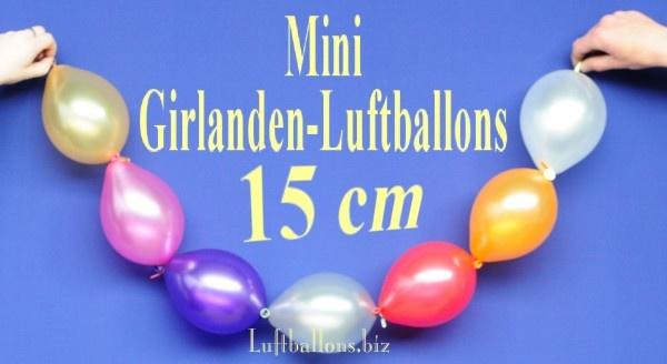 ballonkette aus mini-girlanden-luftballons