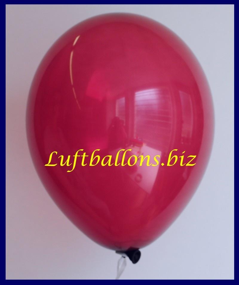 Luftballon Burgund, 25 cm