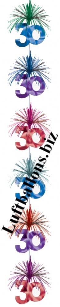 Geburtstag dekoration zahlendeko kette 30 geburtstag for Geburtstagsdeko 30