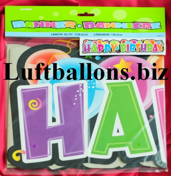 geburtstag dekoration deko banner happy birthday ballons lu geburtstag banner happy birthday. Black Bedroom Furniture Sets. Home Design Ideas