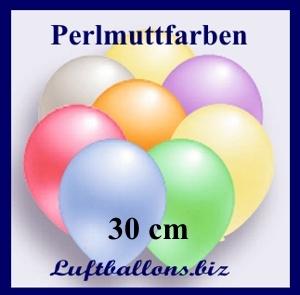 Deko Luftballons von Luftballons.biz, Perlmuttfarben, 90/100 cm, Serie 2