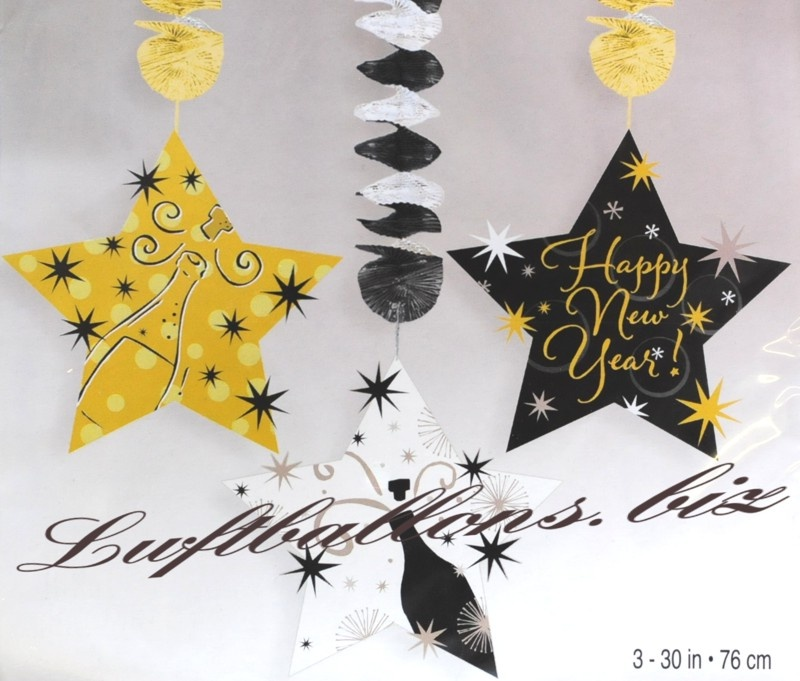new year 39 s eve decoration dangling star decoration happy. Black Bedroom Furniture Sets. Home Design Ideas