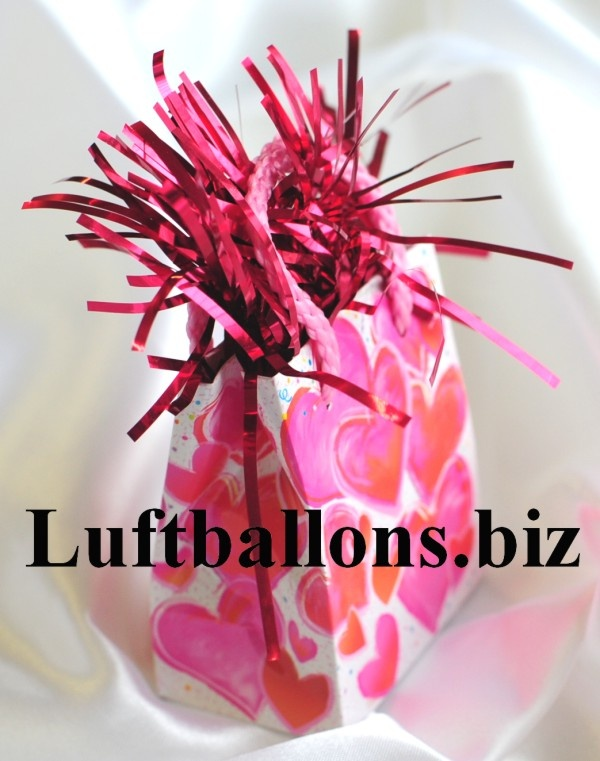 Ballongewicht Geschenktütchen, Herzen Beschwerer für Luftballons mit Helium