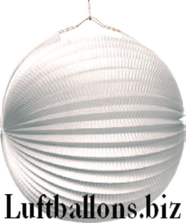 Lampion in Weiß, 23 cm, Party- und Festdekoration, Rosetten-Deko